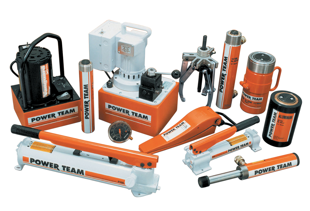 Hydraulic services Pump, Motor, Control valve, Cylinders